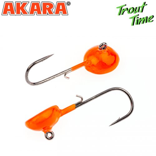 Форелевая джиг-головка Akara Trout Time Таблетка 2г № 4 Orange (3шт)