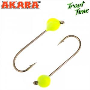 Форелевая джиг-головка Akara Trout Time Шар вольфрам Yellow (3шт)
