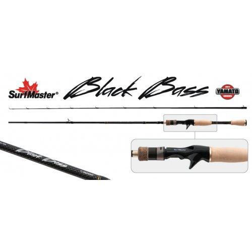 Спиннинг штекерный угольный 2 колена Surf Master K1228 Black Bass Cast с курком TX-20