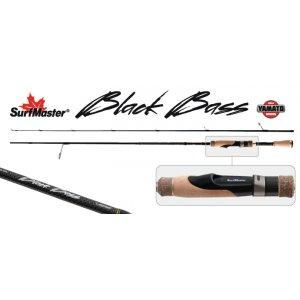 Спиннинг штекерный угольный 2 колена Surf Master K1229 Black Bass Spin TX-20