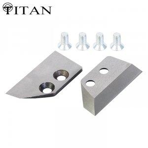 Ножи для ледобура Титан 4 мм. прямые 130 мм правое вращение (2 шт.)