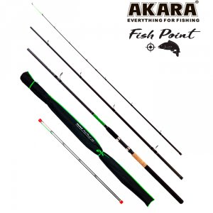 Удилище штекерное угольное фидерное 3 колена Akara L17033 Fish Point TX-20