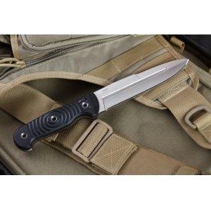 Нож Legion D2 S (Сатин, Черная рукоять, Камо ножны)