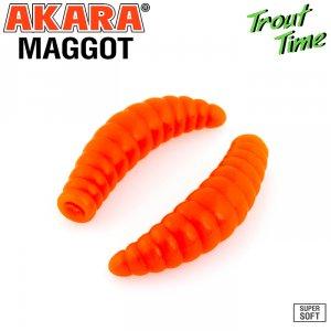 Силиконовая приманка Akara Trout Time MAGGOT 1,6 Cheese (10 шт)