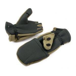 Рукавицы-перчатки Tagrider 0913-14 беспалые неопреновые с флисом хаки