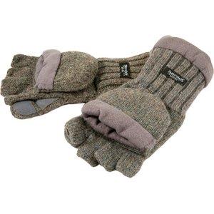 Рукавицы-перчатки TR 1064 с обрезанными пальцами вязанные с флисом цветные