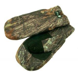 Рукавицы TR 099-10 из кусков натурального мех обшитые