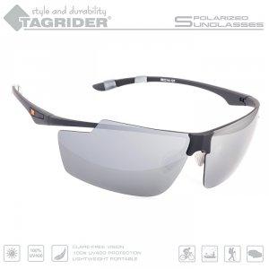 Очки поляризационные Tagrider в чехле N04-27 Gray Mirror