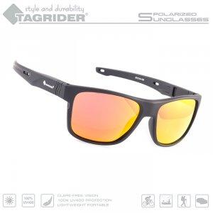 Очки поляризационные Tagrider в чехле N05-45 Gold Red Mirror