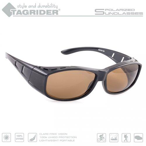 Очки поляризационные Tagrider в чехле N06-1 Brown