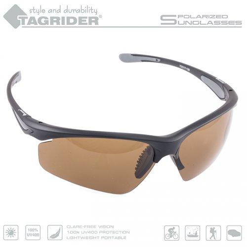 Очки поляризационные Tagrider в чехле N15-1 Brown