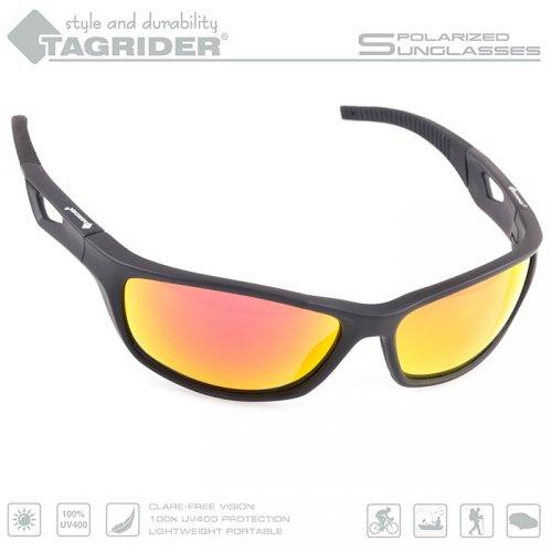 Очки поляризационные Tagrider в чехле N21-45 Gold Red Mirror