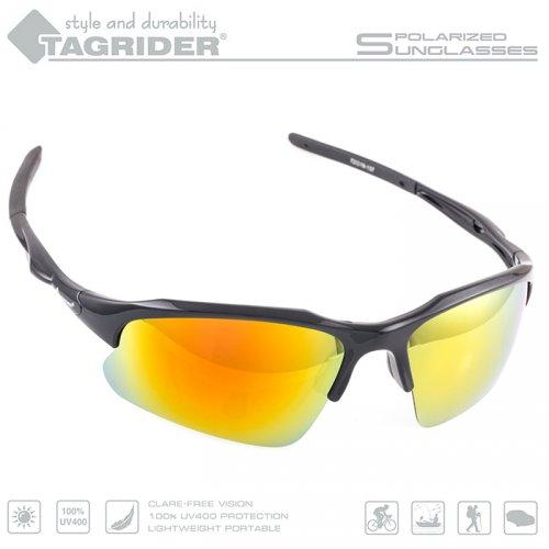 Очки поляризационные Tagrider в чехле N22-15 Gold Red Mirror