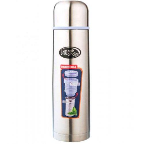 Термос Биосталь NB-1000Z 1,0 л с узкой горловиной пробка с ситечком