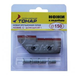 Ножи для ледобура Тонар ЛР-150(L) (СКАТ) прямые левое вращение NLS-150L.SL (2 шт.)