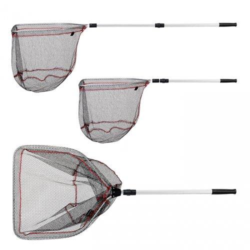 Подсачек Akara PF-2-1 50x55 см прямоугольный 2 колена резининовая сетка разборный L160