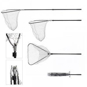 Подсачек PF-3 60x60x60 см треугольный 2 колена зажим металическое крепление L220