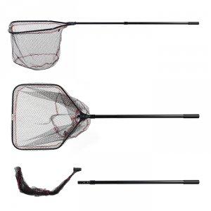 Подсачек Akara PF-8 60x60 см прямоугольный 2 колена складная голова резиновая сетка L245