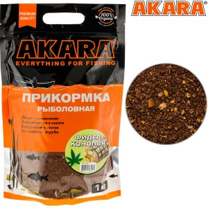 Прикормка Akara Premium Organic 1,0 кг Фидер Конопля