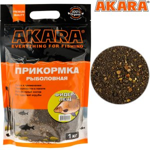 Прикормка Akara Premium Organic 1,0 кг Фидер Лещ