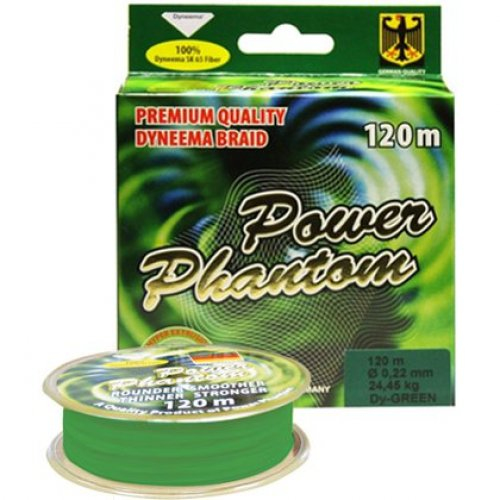 Шнур Power Phantom 4X зеленый 120м