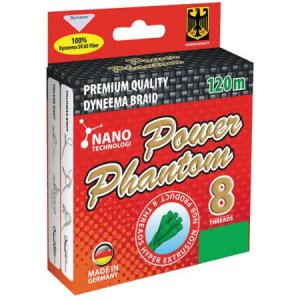 Шнур Power Phantom 8X зеленый 120м