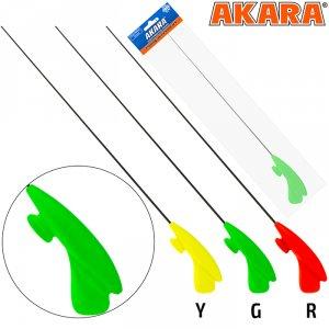 Удочка зимняя Akara RHC зелёная (хлыст L средний Hi Carbon)