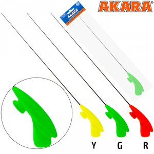 Удочка зимняя Akara RHC зелёная (хлыст S мягкий Hi Carbon)