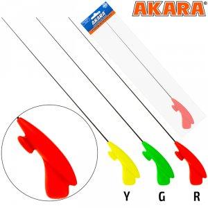 Удочка зимняя Akara RHC красная (хлыст S мягкий Hi Carbon)