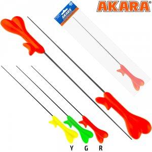 Удочка зимняя Akara RKW2 красная (хлыст Hi Carbon 1 составной) 38 см