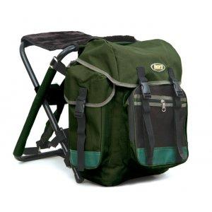 Рюкзак Akara Outlander Green с меховым стулом 40 литров
