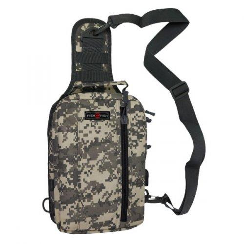 Сумка-рюкзак наплечная Fish2Fish City серая цифра 30x19x10 см