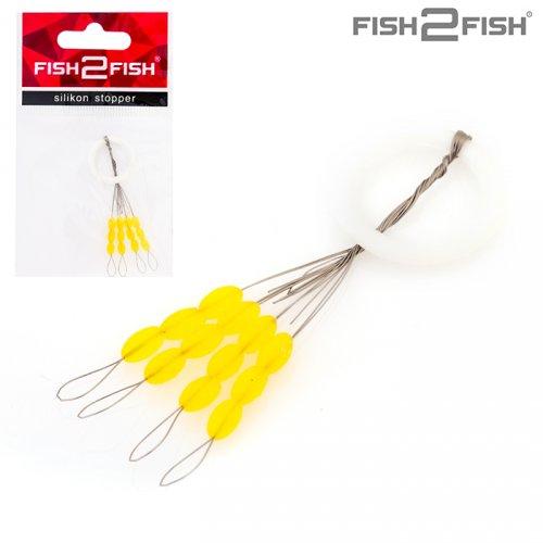Стопор для поплавка Fish2Fish 6,5х3,5 мм (12 стопоров) XL