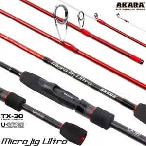 Спиннинг штекерный угольный 2 колена Akara SL1004 Micro Jig Ultra TX-30