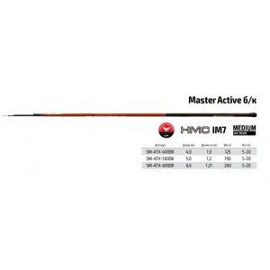 Удилище телескоп угольное д/с S Master Active TX-20 б/к