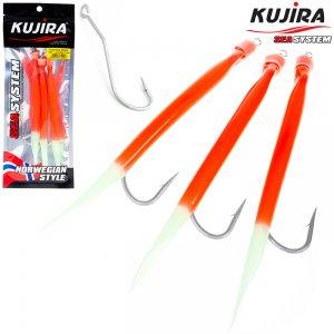 Снасточка морская Kujira Gummi Makk 10/0 Lumo+Red (3 шт)