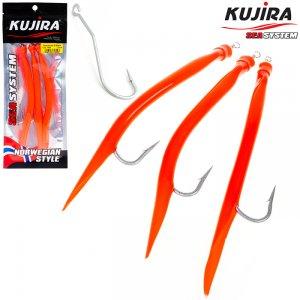 Снасточка морская Kujira Gummi Makk 8/0 Red (3 шт)