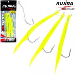 Снасточка морская Kujira Gummi Makk 6/0 Yellow (3 шт)