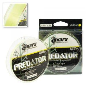 Леска Akara Predator лимонная 100 м