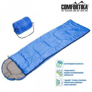 Спальник Comfortika Simple SP2 200+35*75 см одеяло с подголовником +5C /+20C