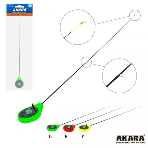 Удочка зимняя Akara SPS Green (хлыст стеклопласт с кольцами)