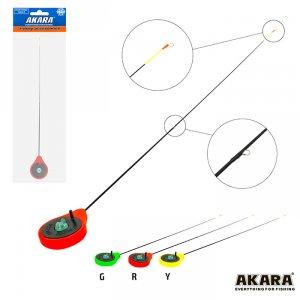 Удочка зимняя Akara SPS Red (хлыст стеклопласт с кольцами)