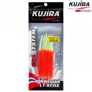 Трубка перчик Kujira G-Makk для крючков 6/0 Lumo+Red (6 шт)