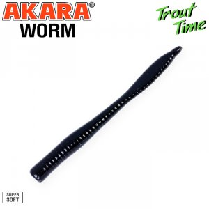 Силиконовая приманка Akara Trout Time WORM 3 Shrimp (10 шт)