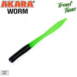 Силиконовая приманка Akara Trout Time WORM 3 Cheese (10 шт)