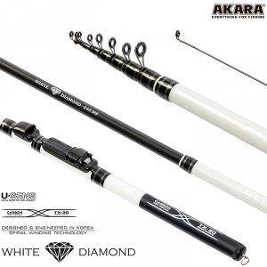 Спиннинг телескоп угольный к/с Akara White Diamond FM (5-25)