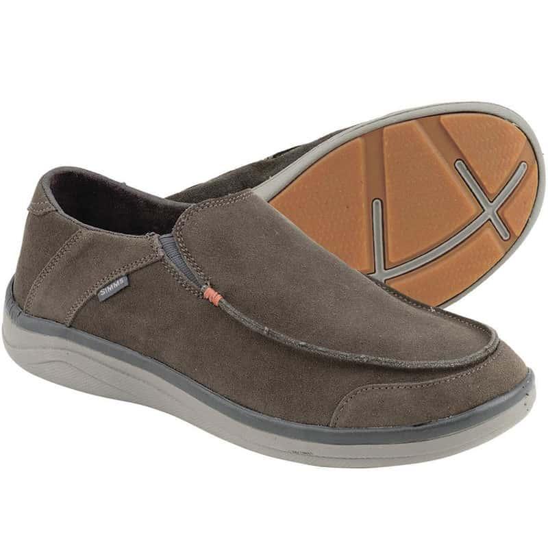 Мокасины Simms Westshore Leather Slip On Shoe Dark Olive