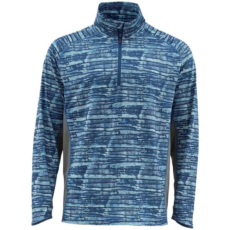 Термофутболка Simms Solarflex 1/2 Zip LS Shirt Water Print Dusk