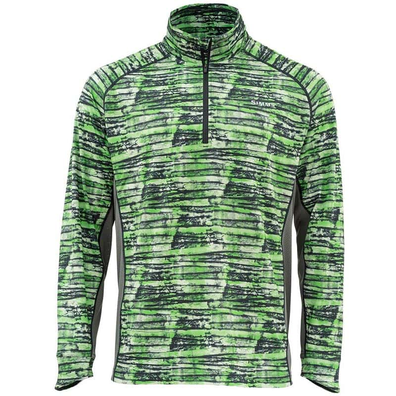 Термофутболка Simms Solarflex 1/2 Zip LS Shirt Water Print Lawn