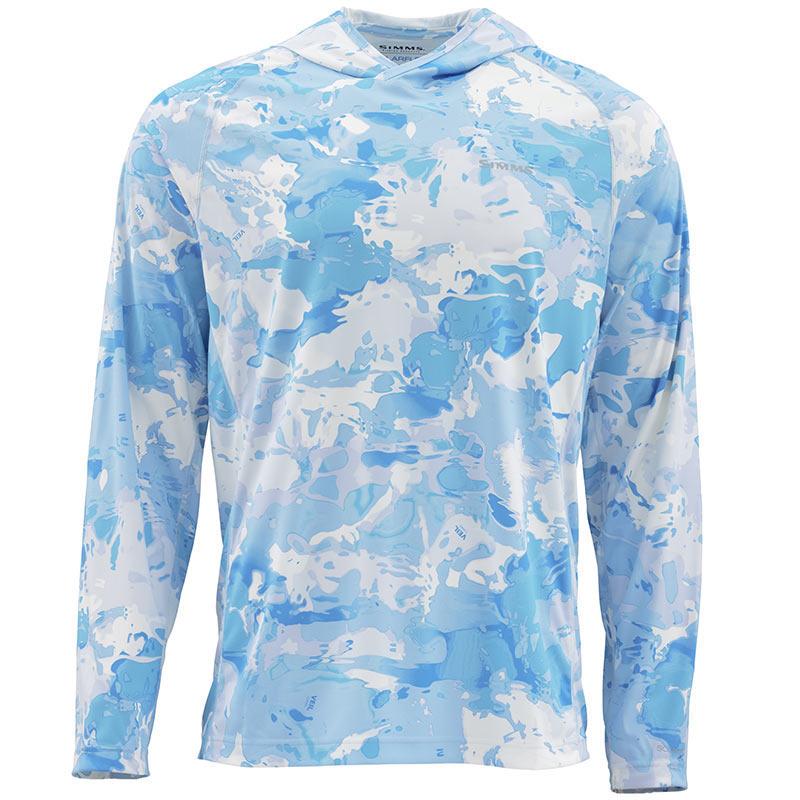 Термофутболка Simms Solarflex Hoody - Print Cloud Camo Blue